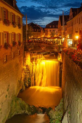 Leuk Wasserfall in Saarburg, Hunsrück, Rheinland-Pfalz, Deutschland