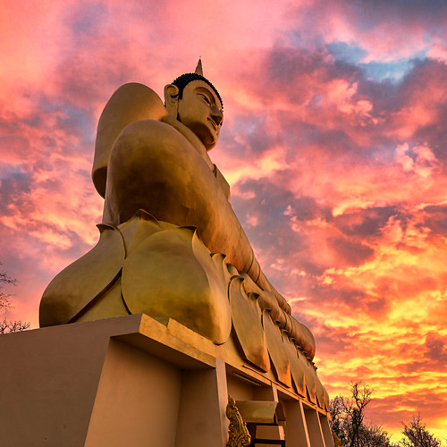Goldener Buddha, Wat Pho Salao, Pakse, Laos, Indochina, Asien
