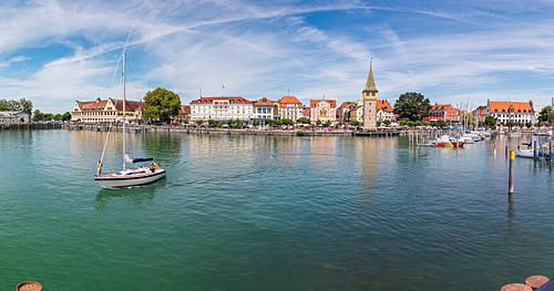 Lindau Hafen in Lindau, Bayern, Deutschland