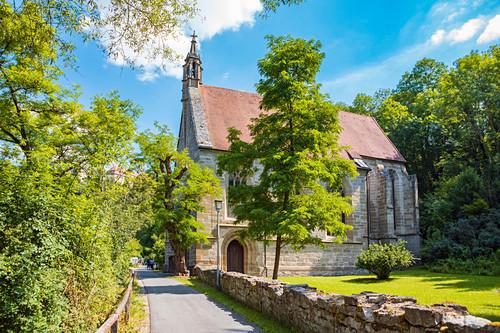 Kobolzeller Kirche in Rothenburg ob der Tauber, Bayern, Deutschland