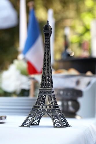 A miniature Eiffel tower