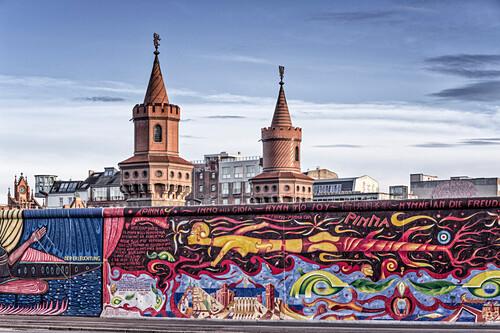Berliner Mauer,  East Side Gallery, Oberbaumbrücke ,  Berlin, Germany