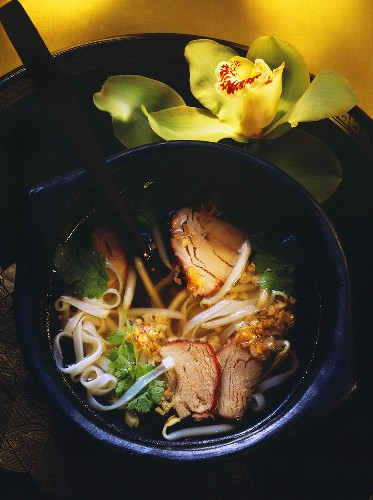Noodle Soup with Red Meat