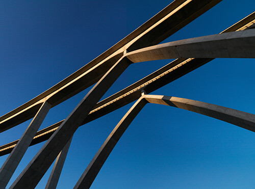 ' Concrete Bridge of Highway ''Autovia des Mediterraneo'' near Almunecar, Andalusia, Spain, Europe'