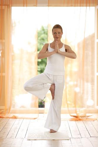 Yoga posture: Vrikshasana (Tree Pose)