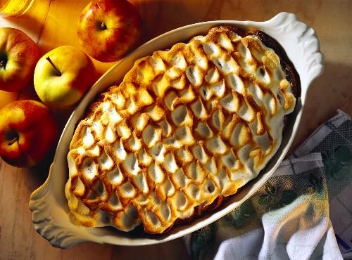 Austrian Apple Bake; Apple Souffle with stiffened Egg White