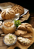 Sun Breads with Tofu Spread & Soya Paste