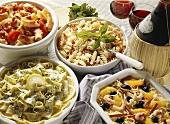 Assorted Italian Pasta Salads