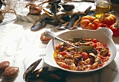 Mussels in tomato sugo (Italy)