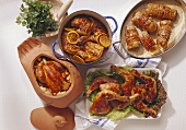 4 assorted Poultry Dishes