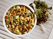 Vegetable Stew with Savoy Cabbage