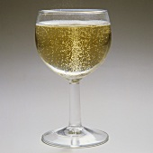 A glass of spritzer (white wine and soda water)