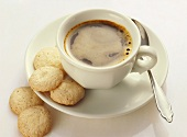 Cup of Espresso with Almond Macaroons