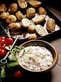 Baked Potatoes with Cream Cheese & Herbs