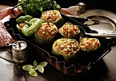 Green Peppers with Rice Filling