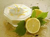 Lemon Mousse with Yogurt