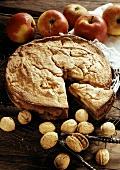 Walnut and apple cake