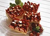Juicy strawberry slices