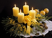 Advent Wreath with Mimosas