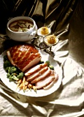 Festive Ham Buffet with Soup and Dessert