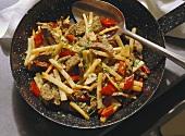 Beef and celeriac stir-fry