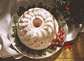 Fruit blancmange for Christmas