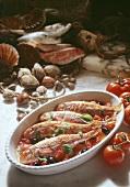 Triglie alla livornese (red mullet in tomato sauce), Italy