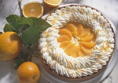 Orange gateau with cream