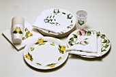 Assortment of party tableware