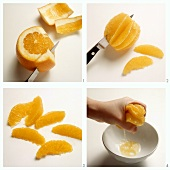 Dividing an orange into segments