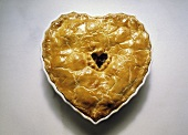 Heart-shaped apple pie