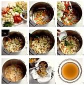 Making vegetable stock