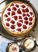 Raspberry quark tart