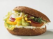 Vegetarian Sandwich on Whole Grain Bun