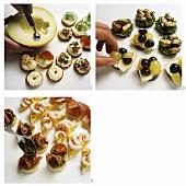 Garnishing snacks