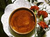 Crema catalana with caramel topping