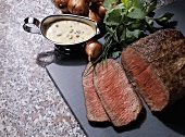 Sliced Roast Beef with Remoulade Sauce
