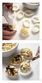 Stuffing boiled eggs