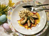 Trout Fillets in a Chard Sauce