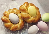 Baked Glazed Easter Egg Nests