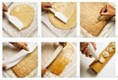 Flat sponge cake for sponge roll
