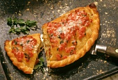 Pizza calzone (folded pizza), Italy