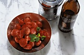 Fragole all'aceto (marinated strawberries), Italy