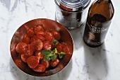 Fragole all'aceto (Marinierte Erdbeeren), Italien