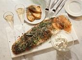 Gravad Salmon with Horseradish Cream