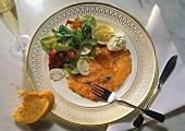 Salmon Carpaccio with a Salad