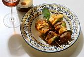 Fegatelli alla toscana (liver kebabs), Tuscany, Italy