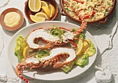 Spiny Lobster with Rice and Garlic