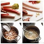 Cooking rhubarb