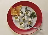 Snails au gratin in Garlic Butter